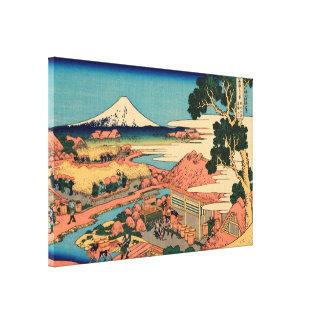 Mount Fuji seen from the tea plantation Canvas Prints