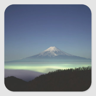 Mount Fuji Square Sticker