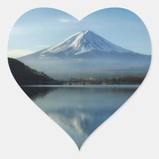 mount fuji heart stickers
