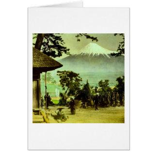 Mount Fuji through the Pines of Suzukawa Vintage Card