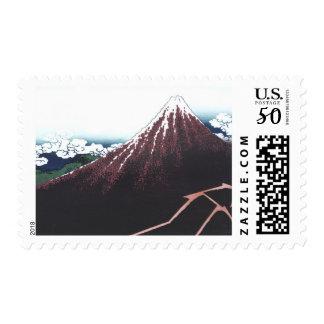 Mount Fuji Ukiyo-e by Hokusai, Japanese Postage