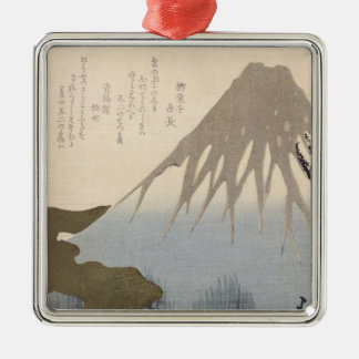 Mount Fuji Under the Snow Metal Ornament