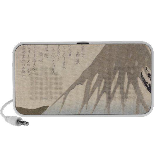 Mount Fuji Under the Snow Portable Speaker