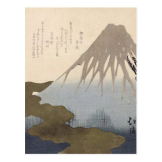 Mount Fuji Under the Snow Postcard