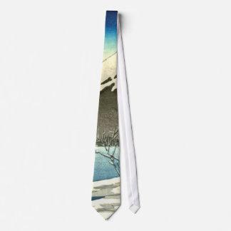 Mount Fuji Winter 1890 Neck Tie