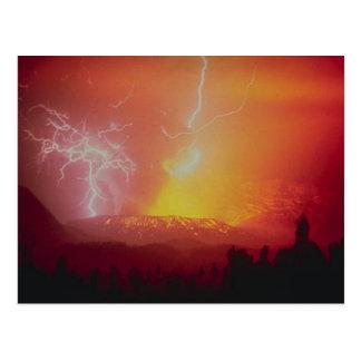 Mount Galunggung lava Indonesia Post Card
