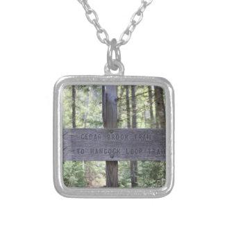 Mount Hancock Hiking Sign New Hampshire Necklace