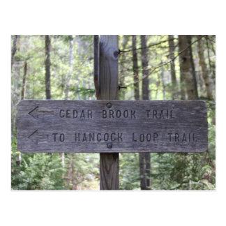 Mount Hancock Hiking Sign New Hampshire Post Card