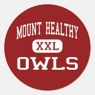 Mount Healthy - Owls - High - Cincinnati Ohio Classic Round Sticker