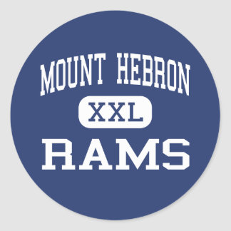 Mount Hebron Rams Middle Upper Montclair Classic Round Sticker