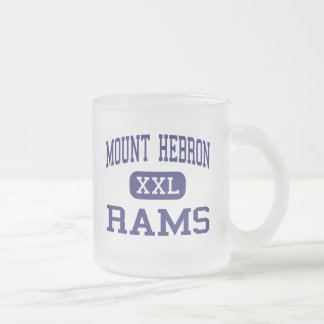 Mount Hebron Rams Middle Upper Montclair 10 Oz Frosted Glass Coffee Mug