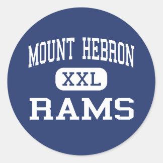 Mount Hebron Rams Middle Upper Montclair Classic Round Sticker