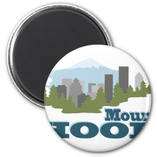 Mount Hood 2 Inch Round Magnet
