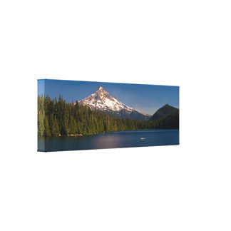 Mount Hood and Lost Lake in Summer Canvas Print
