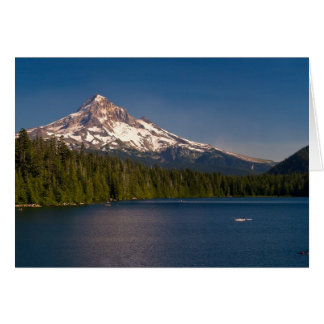 Mount Hood and Lost Lake in Summer Card