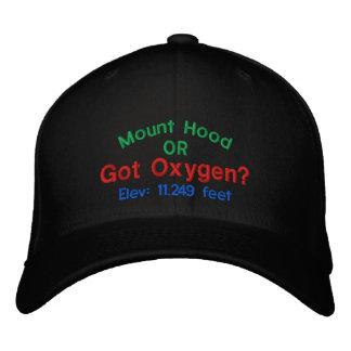 Mount Hood Got Oxygen? Embroidered Cap