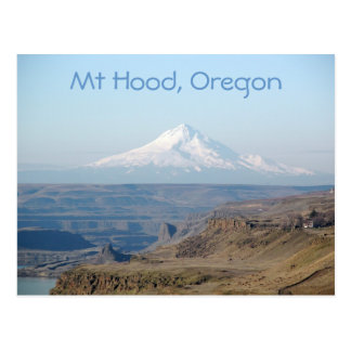 Mount Hood in the Gorge Travel Photo Postcard