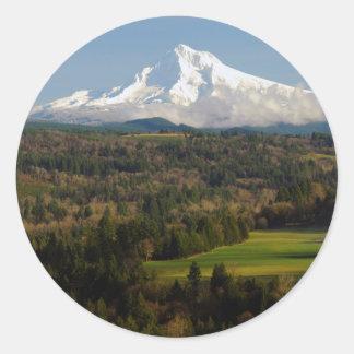 Mount Hood, Jonsrud Viewpoint, Sandy, Oregon Classic Round Sticker