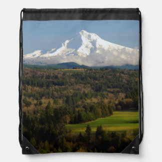 Mount Hood, Jonsrud Viewpoint, Sandy, Oregon Drawstring Backpack