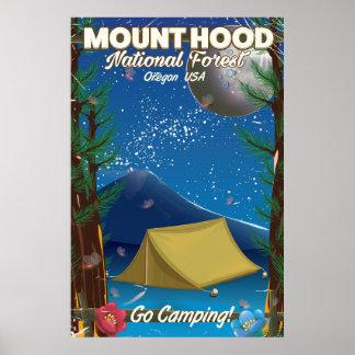 Mount Hood National Forest travel poster