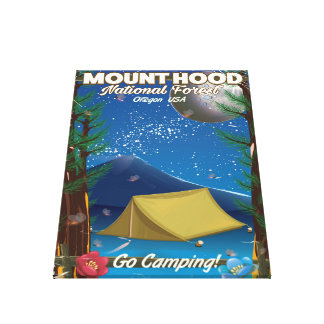 Mount Hood National Forest travel poster Canvas Print