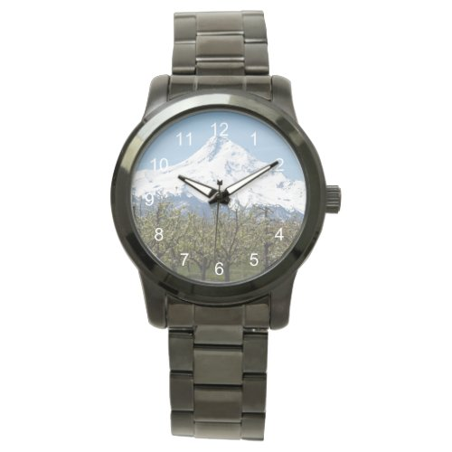 Mount Hood Orchards Photo Wristwatch