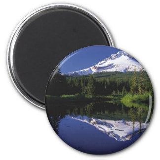 Mount Hood Oregon 2 Inch Round Magnet