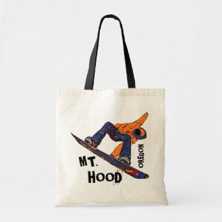Mount Hood Oregon orange blue snowboard bag