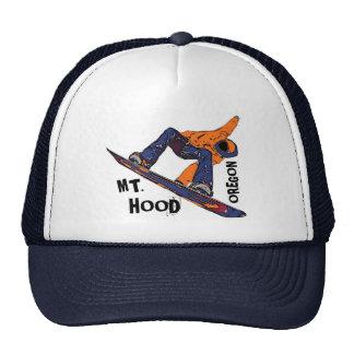 Mount Hood Oregon orange blue snowboard hat
