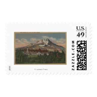 Mount Hood, Oregon - View of the New Timberline 2 Postage