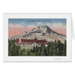 Mount Hood, Oregon - View of the New Timberline Greeting Card