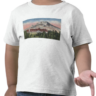 Mount Hood Oregon - View of the New Timberline T Shirts