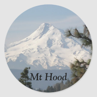 Mount Hood Photo Classic Round Sticker