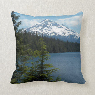 Mount Hood Photo Square Throw Pillow