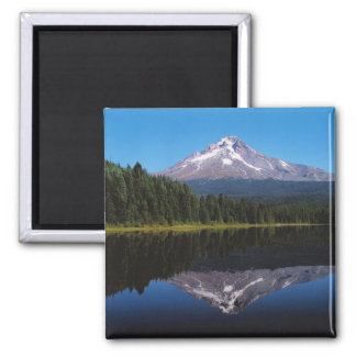 Mount Hood Reflected in Lake 2 Inch Square Magnet