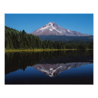 Mount Hood Reflected in Lake Poster