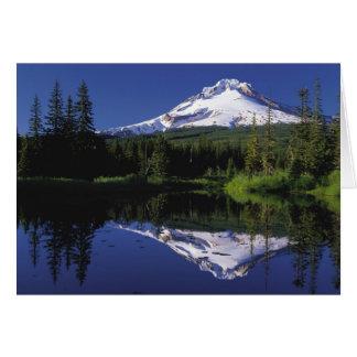 Mount Hood Reflected in Mirror Lake, Oregon Card
