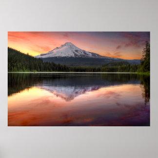 Mount Hood Reflection on Trillium Lake Print