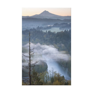 Mount Hood Sandy River Stretched Canvas Print