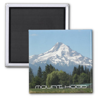 Mount Hood Vista Photo 2 Inch Square Magnet