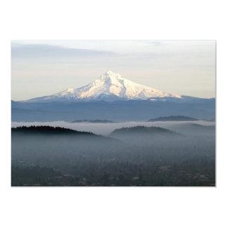 Mount Hood with Low Lying Fog Over Portland Oregon Card