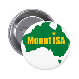 Mount Isa Green and Gold Map Pin