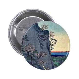 Mount Kaito in Iga Province by Utagawa, Hiroshige Pinback Buttons