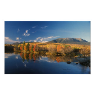 Mount Katahdin and Longfellow Mountains Autumn Poster
