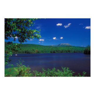 Mount Katahdin and Penobscot River Horserace Brook Poster