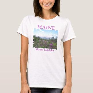 Mount Katahdin and Wildflowers T-Shirt