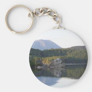 Mount Katahdin from Rainbow Basic Round Button Keychain