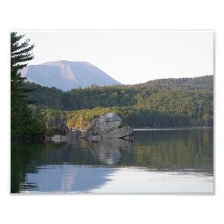 Mount Katahdin from Rainbow Lake Photo Print