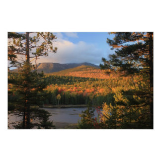 Mount Katahdin in Evening Light Poster