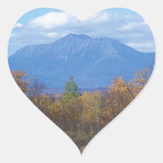 Mount Katahdin in fall 2 Heart Sticker